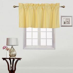 NEW Window Valance pastel yellow 37x18